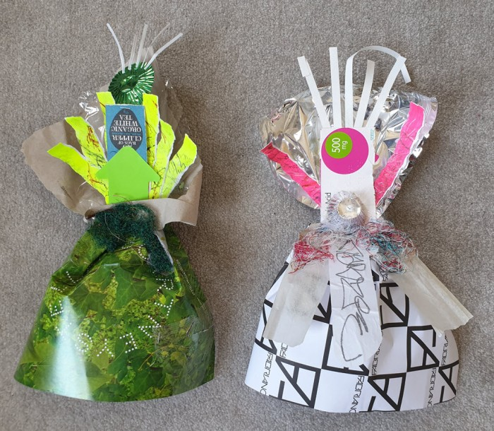 Warrior Women made out of recycling - Clipper and MG
