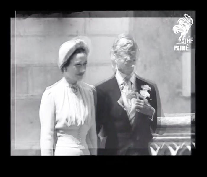 Digitally manipulated image of Edward and Mrs Simpson on their wedding day