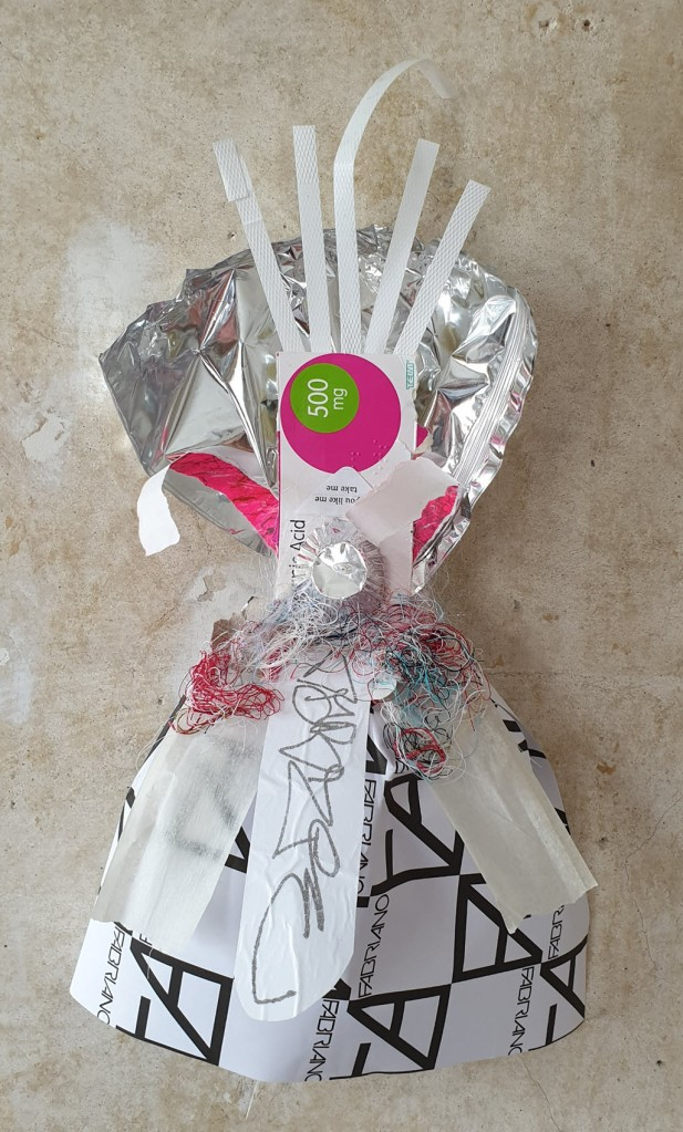 Warrior Woman made out of recycling - MG