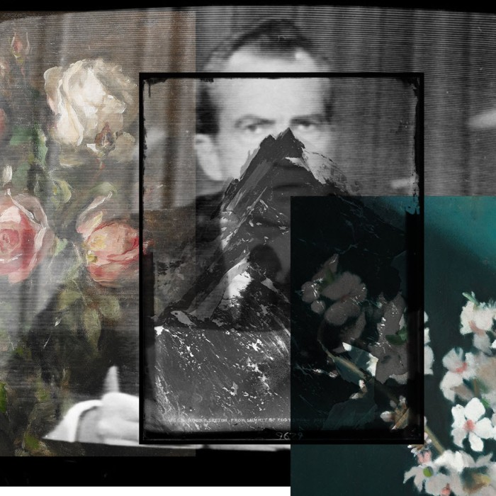 Digital collage using an image of Richard Nixon