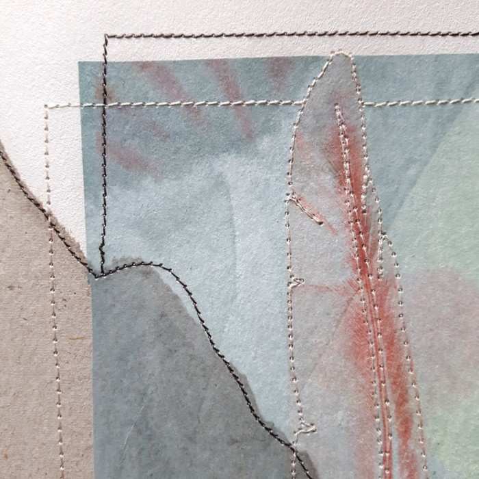 Detail of paper collage