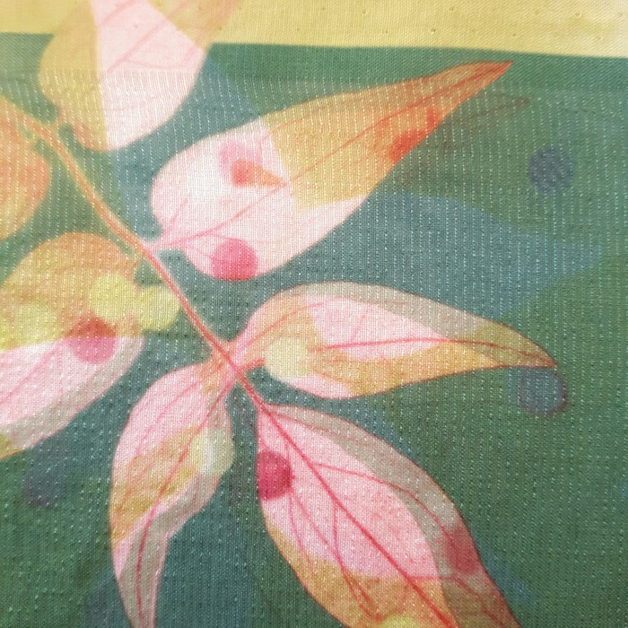 Sublimation print of foliage