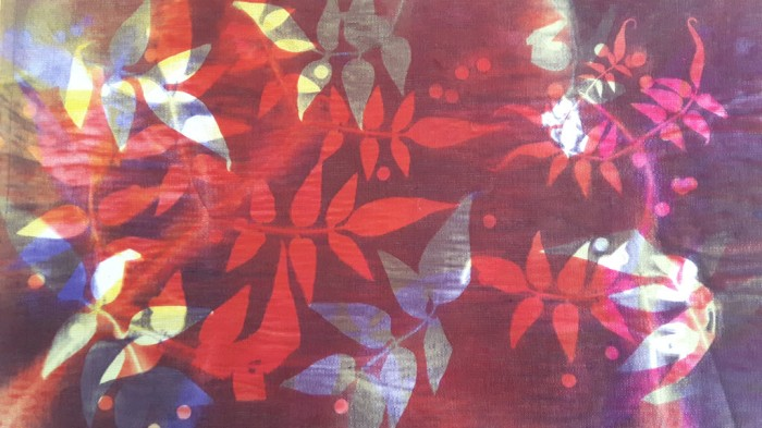 Sublimation print of foliage