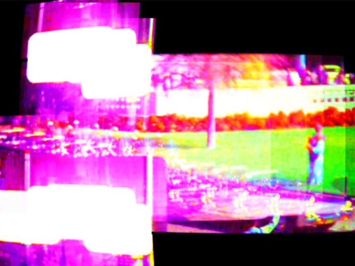 Digitally manipulated image of stills from the Zapruder footage
